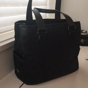 Tumi Black tote laptop portfolio bag utility